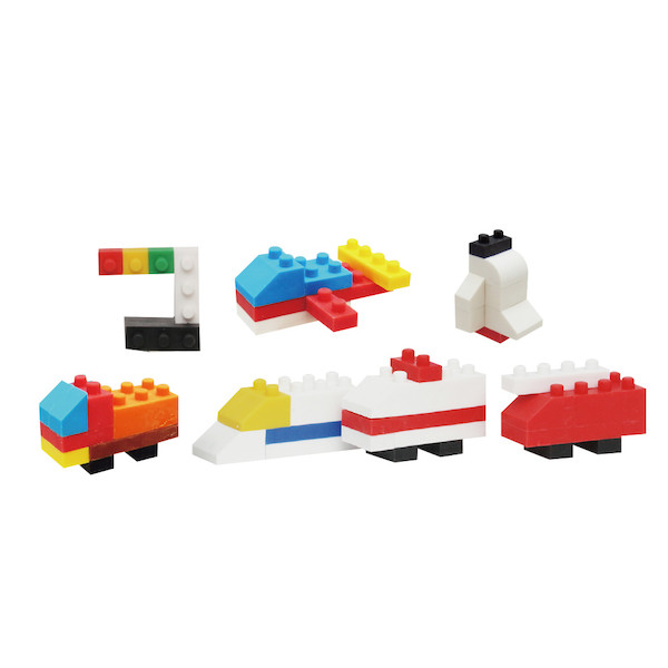 Iwako Puzzle Eraser Set Building Blocks Vehicle