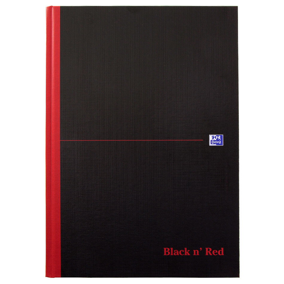 Black n' Red Hardback Notebook Casebound A4