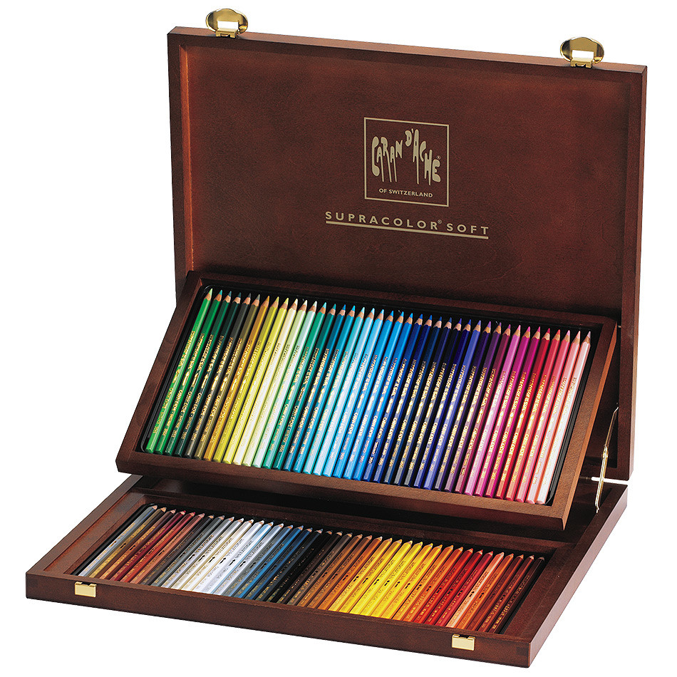 Caran d'Ache Supracolor Water Soluble Pencils Wooden Box ...