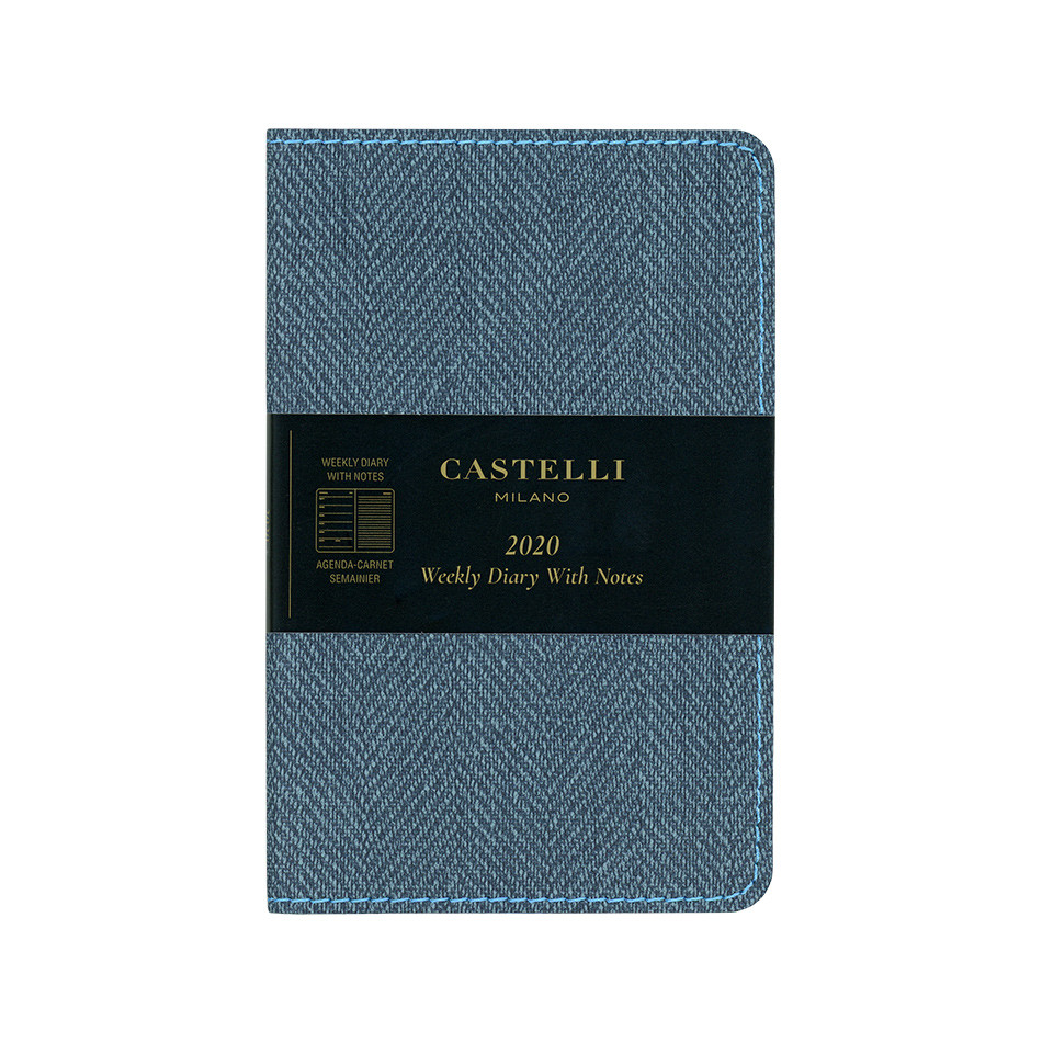 Castelli Harris Pocket Diary 2020 Slate Blue