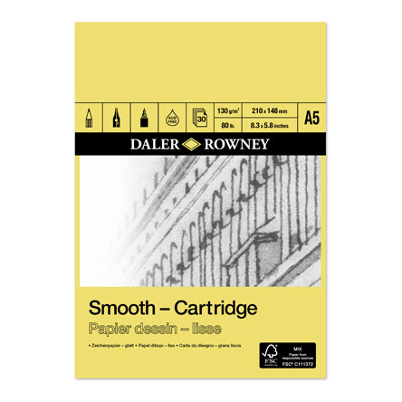 Daler-Rowney Smooth Cartridge Pad A5