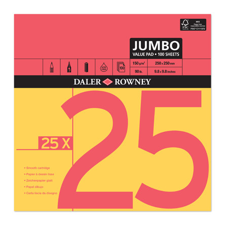 Daler-Rowney Red & Yellow Jumbo Pad 250x250