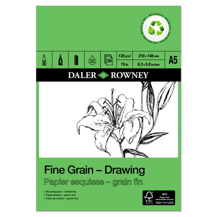 Daler-Rowney Fine Grain Eco Drawing Pad A5
