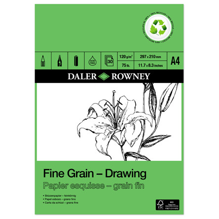 Daler-Rowney Fine Grain Eco Drawing Pad A4