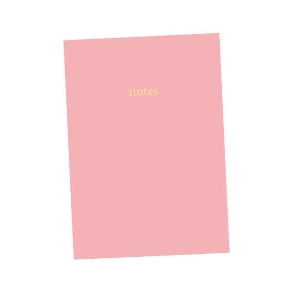 Dotty About Paper Colourblock Notebook A5 Light Pink