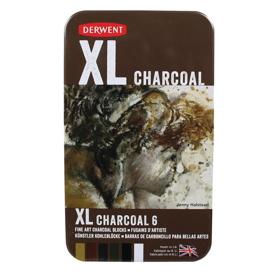 Derwent XL Charcoal Tin of 6