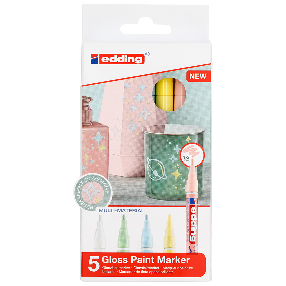 edding 751 Paint Marker Pen Pastel Assorted Set of 5