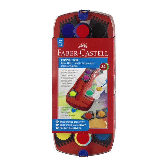Faber-Castell Connector Watercolour Paint Box of 24