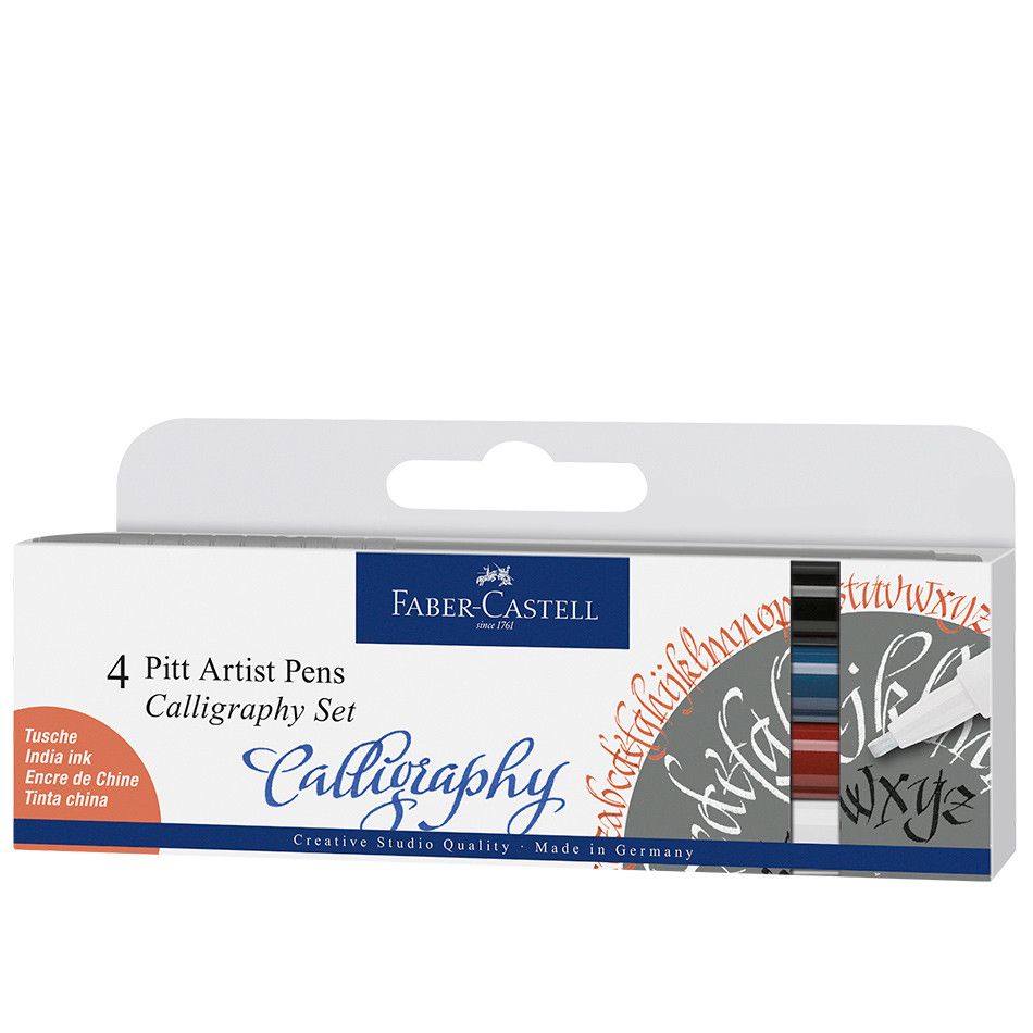 Faber-Castell Pitt Artist Pen Calligraphy Set of 4