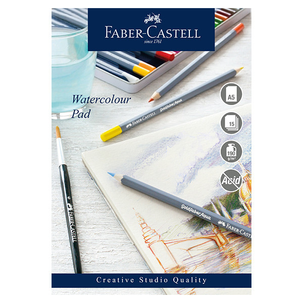 Faber-Castell Creative Studio Watercolour Pad Spiral Bound A5