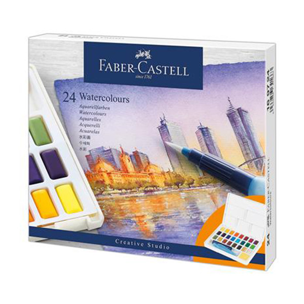 Faber-Castell Creative Studio Watercolour Pan Set of 24