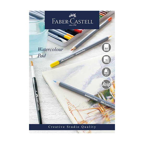 Faber-Castell Creative Studio Watercolour Pad Spiral Bound A4