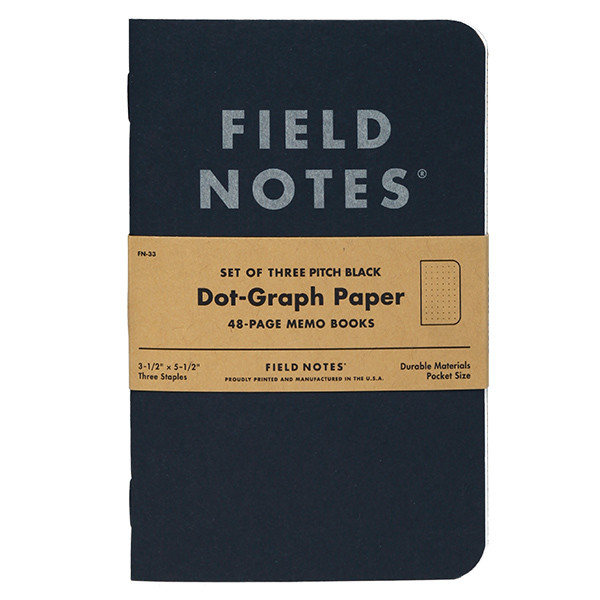 Field Notes Pitch Black Note Book Set of 2 – Field Note