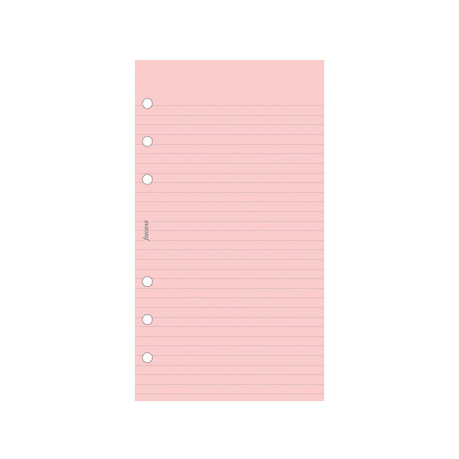 Filofax Notepaper Ruled Pink