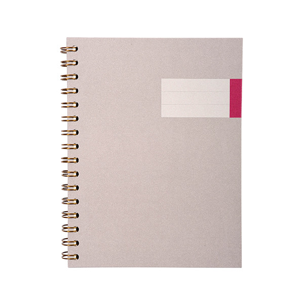 G Lalo Toile Imperiale Wirebound Notebook A5
