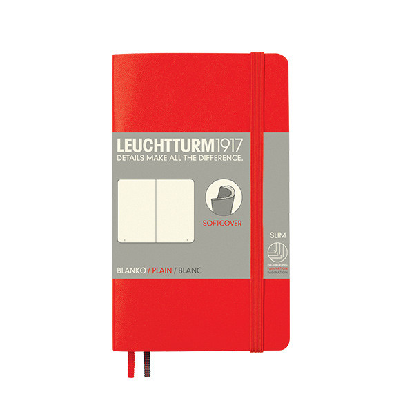 Leuchtturm1917 Softcover Notebook Pocket Red