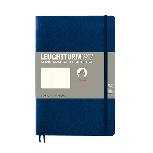 Leuchtturm1917 Softcover Notebook B6+ Navy
