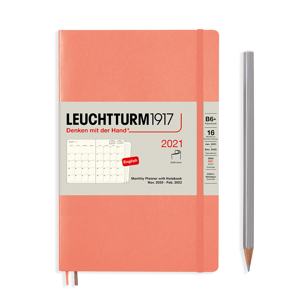 Leuchtturm1917 Monthly Planner & Notebook 2021 Softcover B6 Bellini