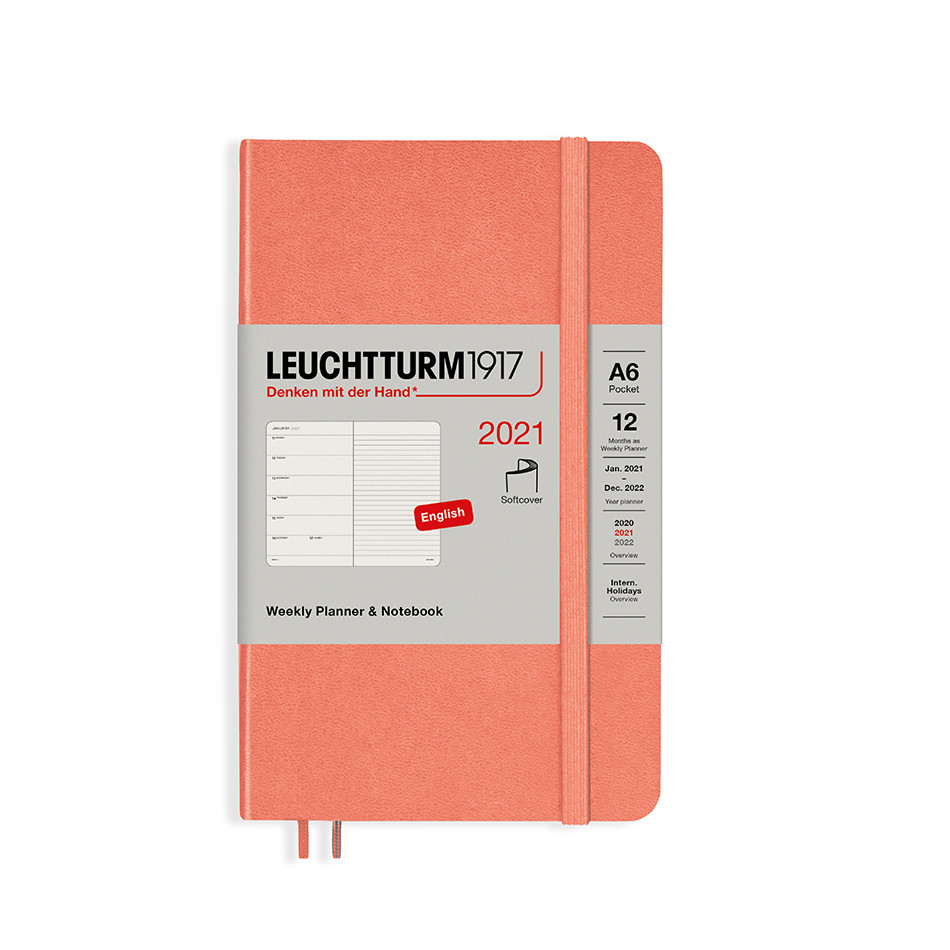 Leuchtturm1917 Weekly Planner & Notebook 2021 Softcover Pocket Bellini
