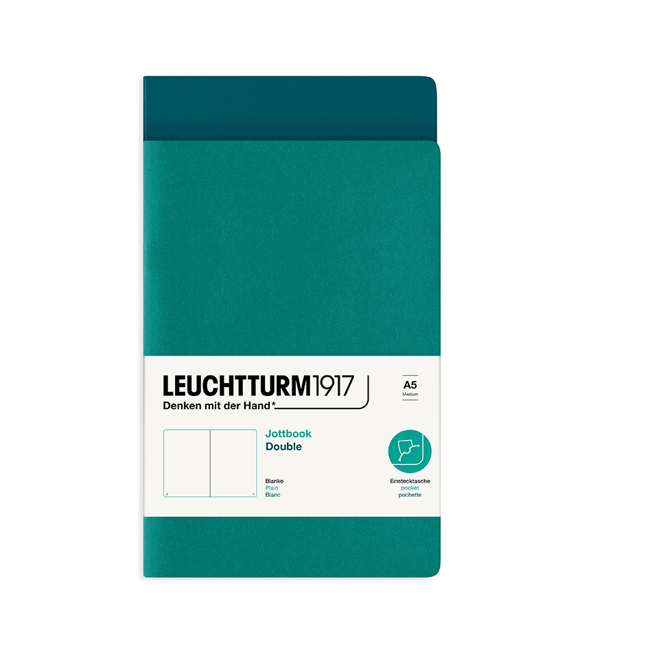 Leuchtturm1917 Jottbook Double Medium Emerald & Pacific Green