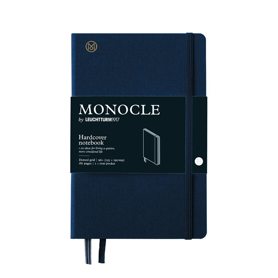 Monocle by Leuchtturm1917 Hardcover Notebook B6+ Navy