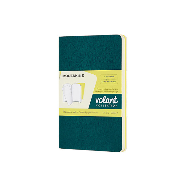 Moleskine Volant Journal Pocket Set of 2 Pine Green/Lemon Yellow