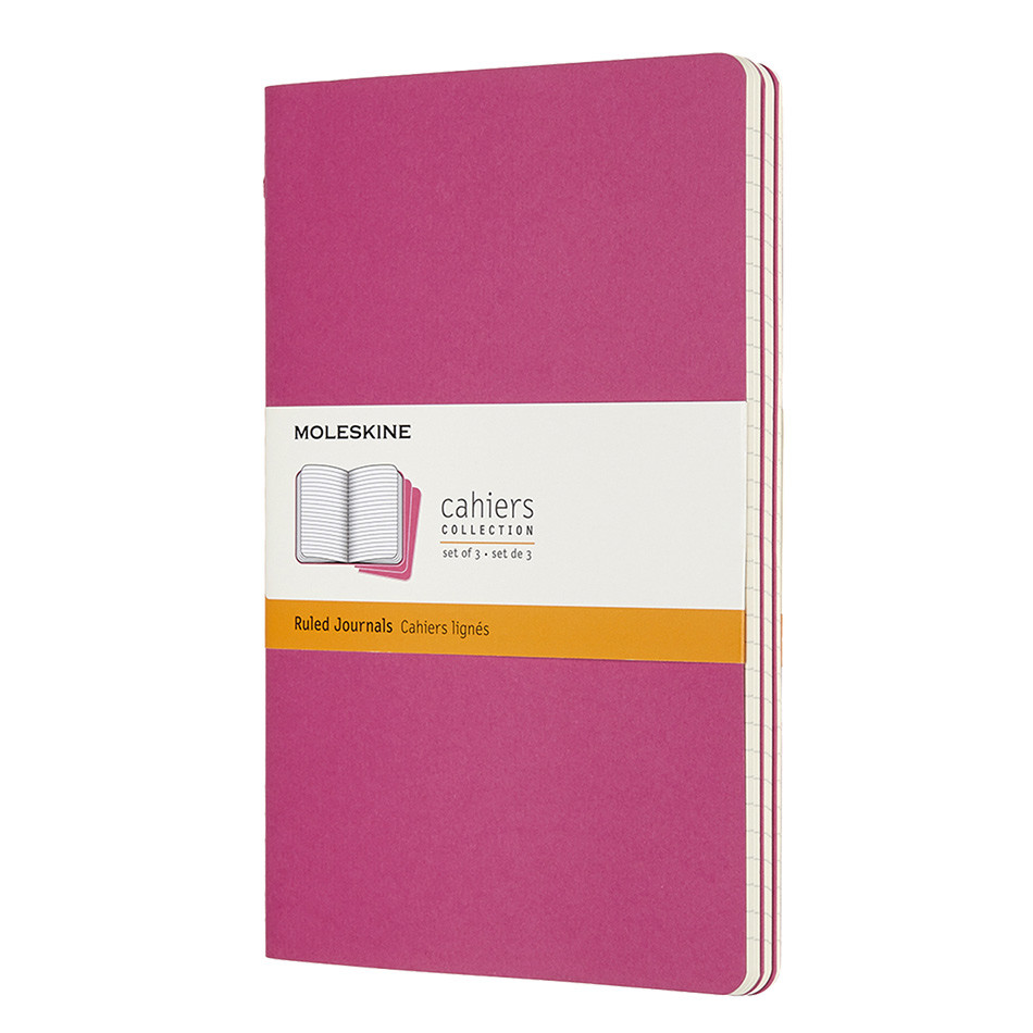 Moleskine Cahier Large Journal 135x210 Kinetic Pink