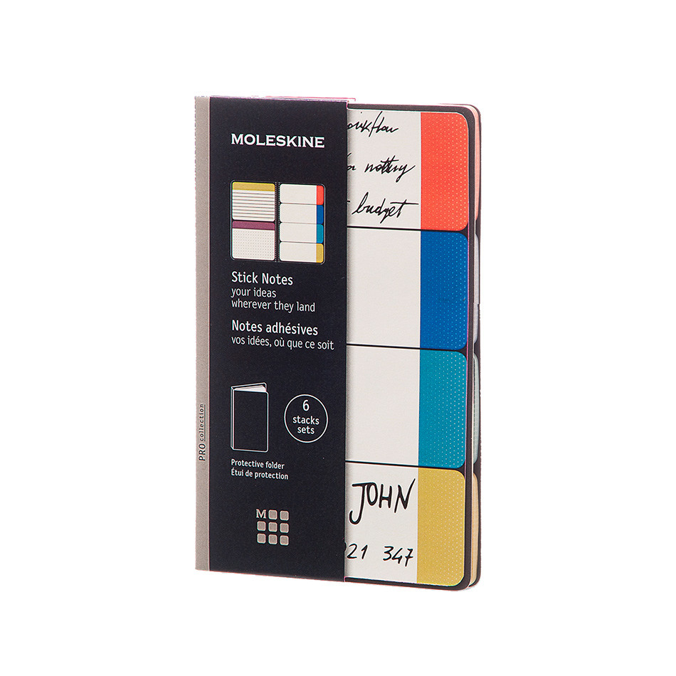 Moleskine Pocket Stick Notes Semi Colour
