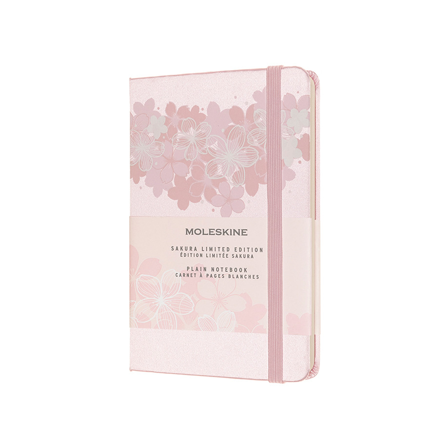 Moleskine Sakura Pocket Notebook Limited Edition Light Pink Plain