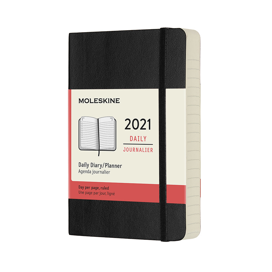 Moleskine Daily Diary 2021 Softcover Pocket Black