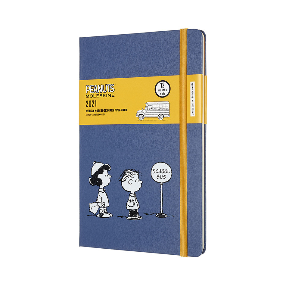 Moleskine Peanuts Large Weekly Diary 2021 Limited Edition School Bus