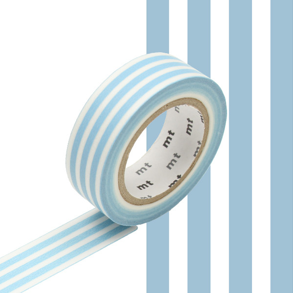 mt Washi Masking Tape 15mm x 10m Border Ice
