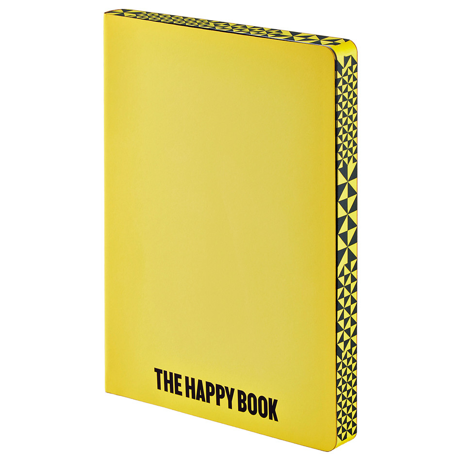 Nuuna Graphic L Recycled Leather Cover Notebook The Happy Book