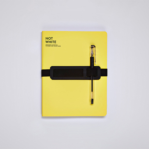 Nuuna Not White L Light Recycled Leather Cover Notebook Yellow