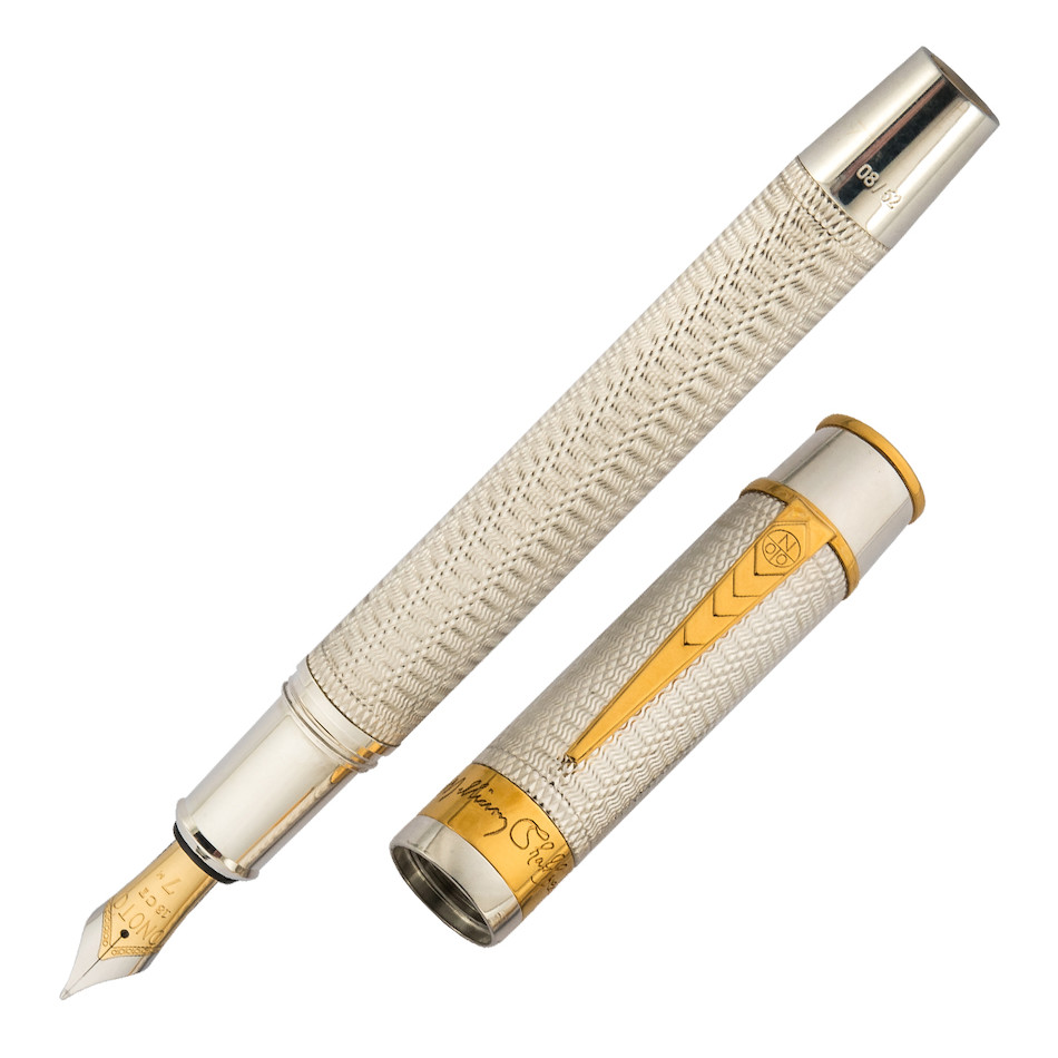 Onoto Shakespeare Fountain Pen Sterling Silver Limited Edition
