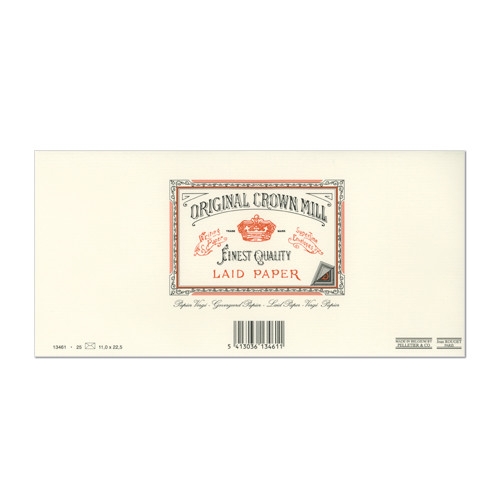 Original Crown Mill Classic Laid Lined Envelopes C6/5 (DL)