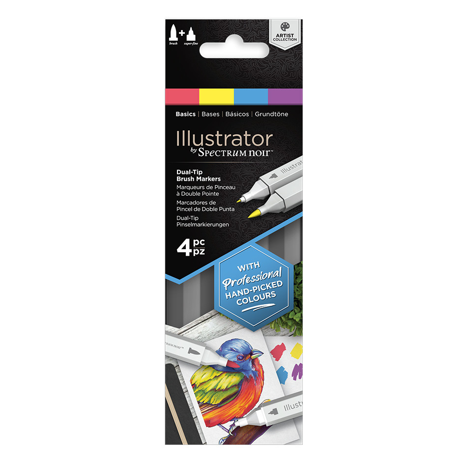 Spectrum Noir Illustrator Marker Set of 4 Basics