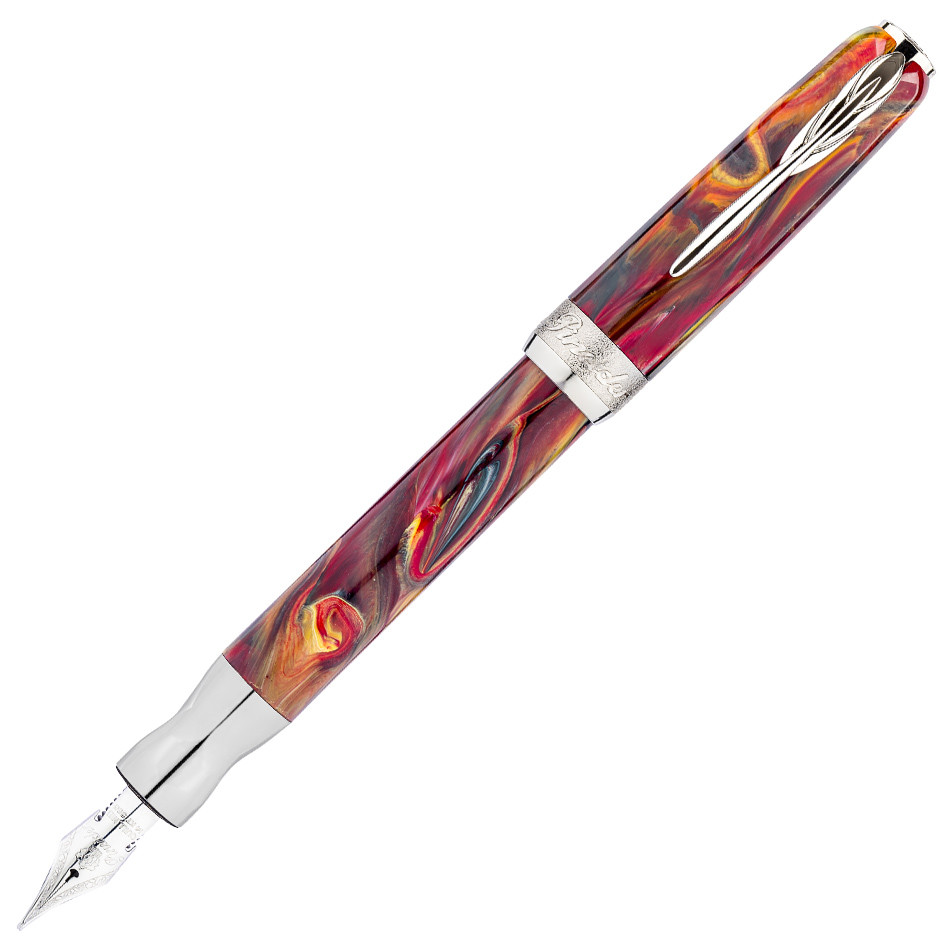 Pineider La Grande Bellezza Gemstones Fountain Pen Rhodolite Red