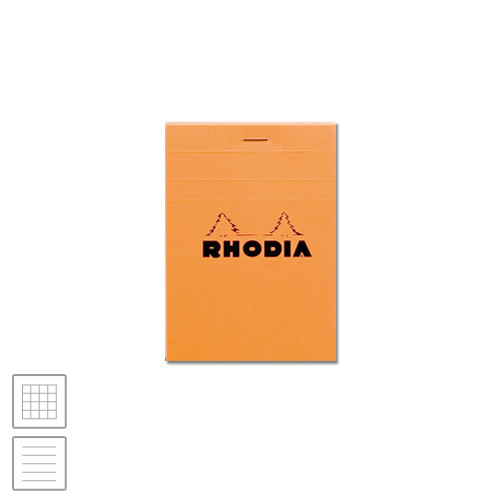 Rhodia Head-Stapled Notepad No.12 85 x 120 Orange