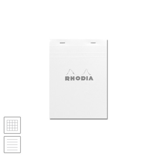 Rhodia Ice White Head-Stapled Notepad No.16 A5 (148 x 210)