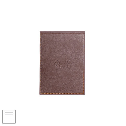 Rhodia Rhodiarama Leatherette Refillable Notepad No.11 (84 x 115) Chocolate