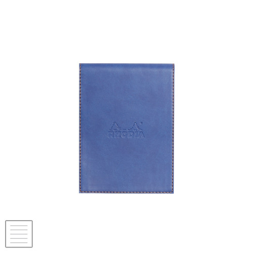 Rhodia Rhodiarama Leatherette Refillable Notepad No.12 (95 x 130) Sapphire