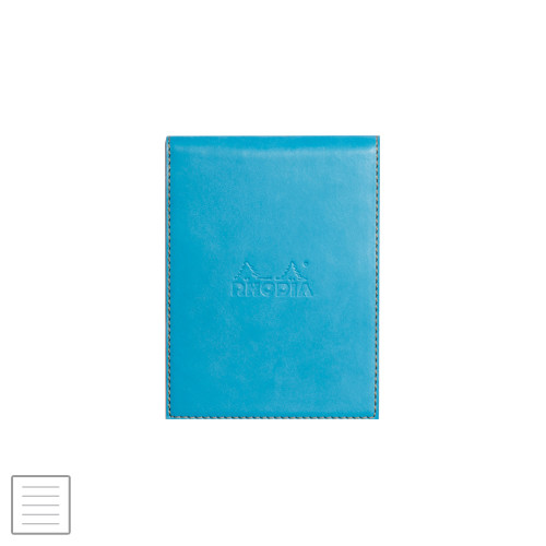Rhodia Rhodiarama Leatherette Refillable Notepad No.12 (95 x 130) Turquoise