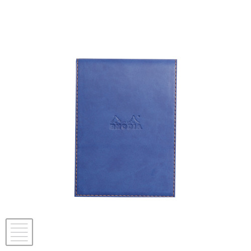 Rhodia Rhodiarama Leatherette Refillable Notepad No.13 (115 x 158) Sapphire