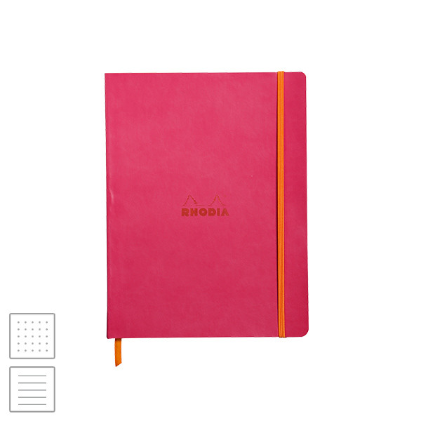 Rhodia Rhodiarama Softcover Notebook (190 x 250) Raspberry