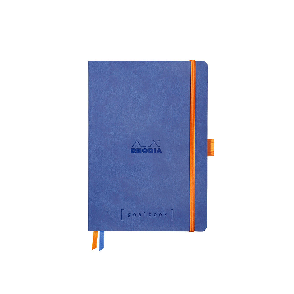 Rhodia Rhodiarama Softcover Goalbook With White Paper A5 Sapphire Blue