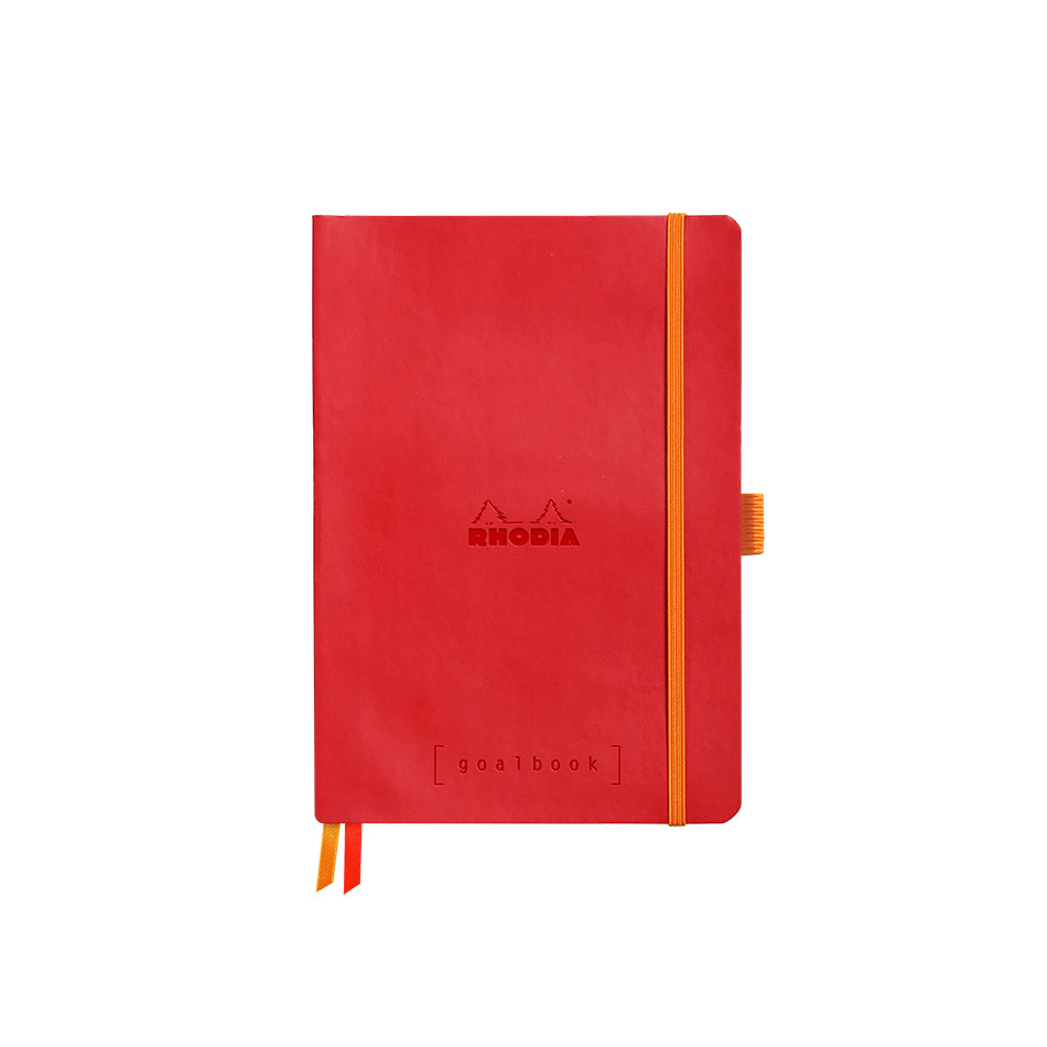 Rhodia Rhodiarama Softcover Goalbook With White Paper A5 Poppy