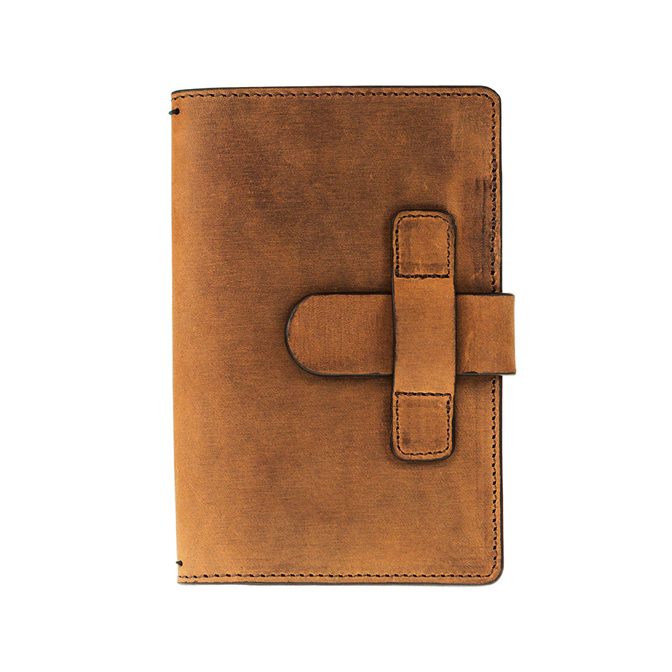 Cult Pens Ruitertassen Leather Notebook Cover 90x140mm Ranger Brown