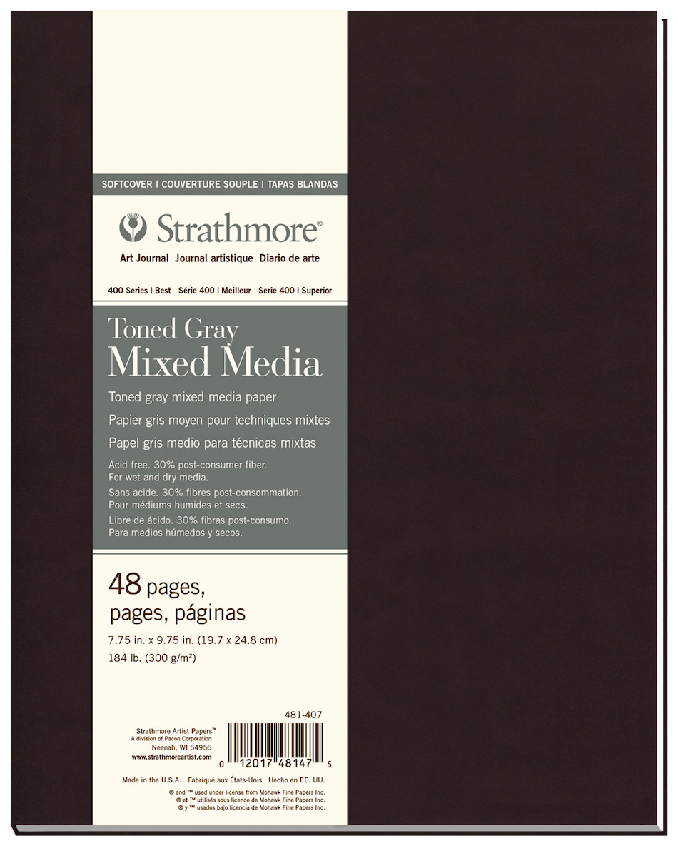 Strathmore 400 Toned Grey Mixed Media Art Journal Softcover 7.75x9.75