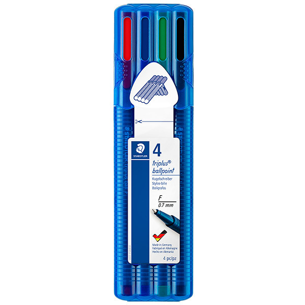 Staedtler Triplus Ball Pen 437FS Fine Assorted Deskset of 4